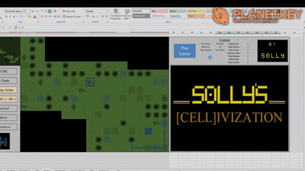 Fan baut Civilization in Microsoft Excel