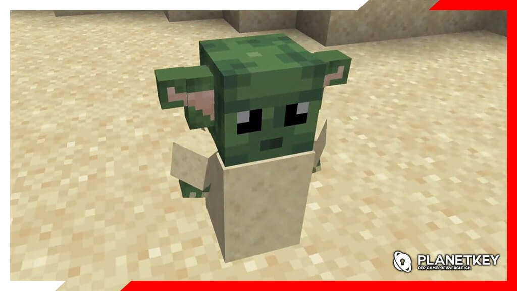 Minecraft - Baby Yoda in Block-Format