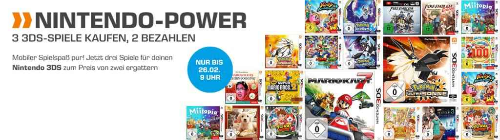 3 FÃœR 2 NINTENDO 3DS Aktion bei Saturn