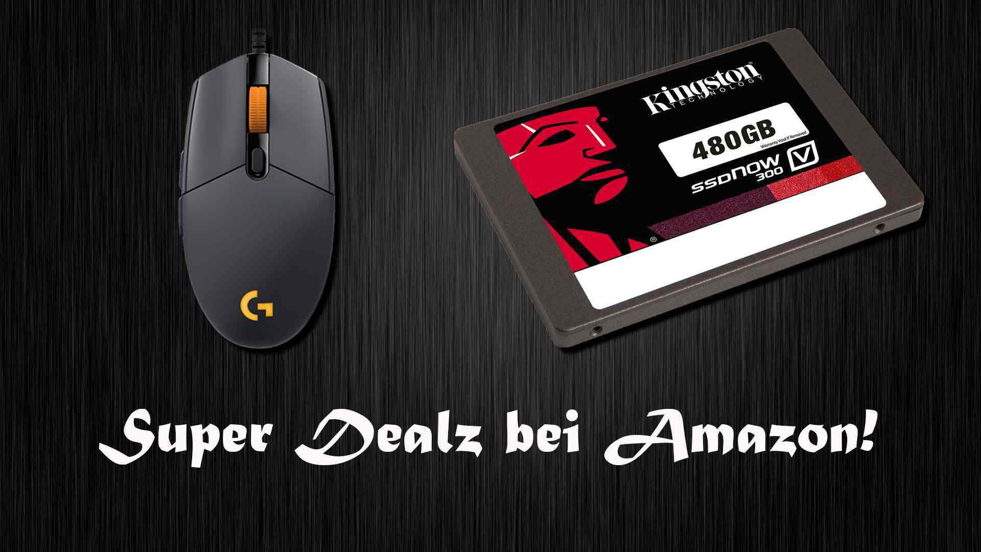 Amazon Angebote: Logitech G Pro Gaming-Maus BF1 Eidtion (WHD-Deal), Kingston SSD (480GB)