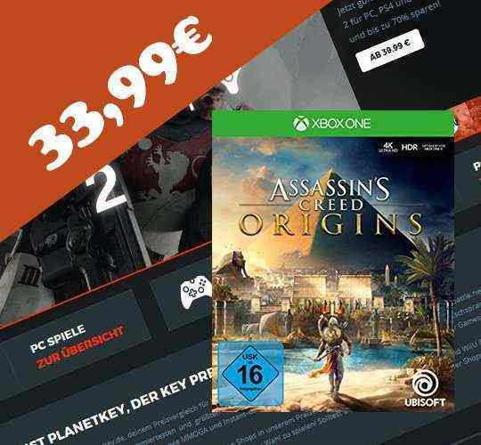 Assassins Creed Origins XBOX ONE neuer Tiefpreis
