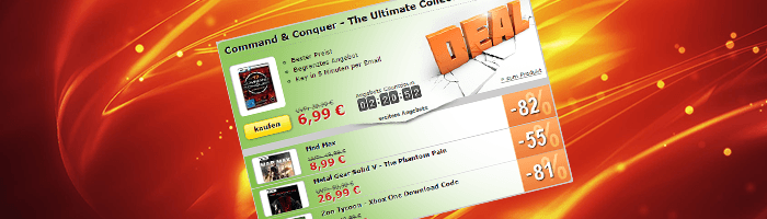 C&C Ultimate Collection, Metal Gear Solid, MadMax und mehr in den MMOGA Deals!