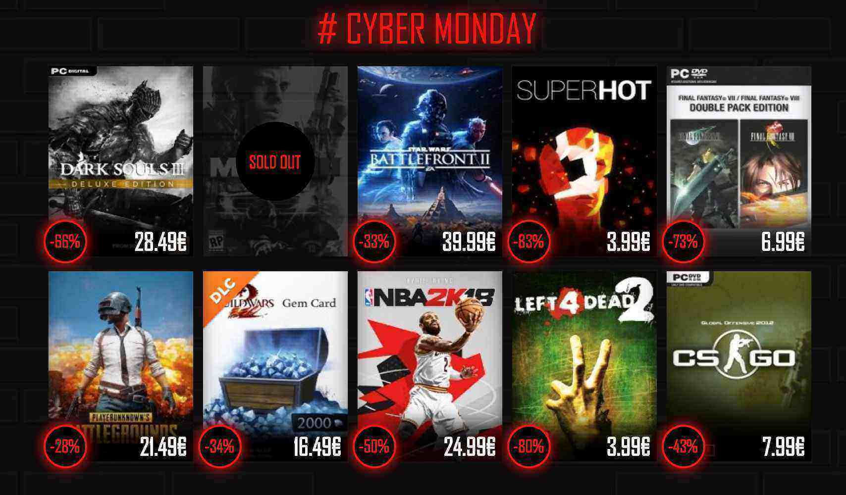 CYBERMONDAY DEALS bei InstantGaming