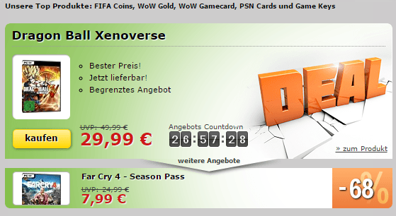 Dragon Ball Xenoverse und Far Cry 4 Season Pass zum Deal-Preis