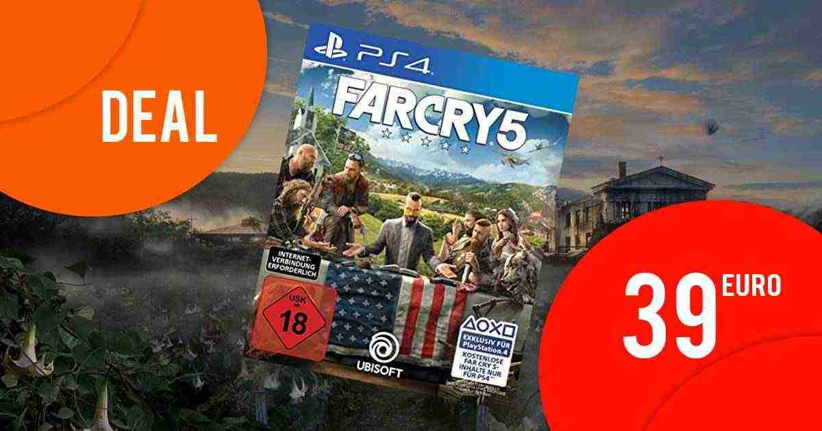 Far Cry 5 PS4 [RETAIL] nur 39 EUR bei Amazon.de