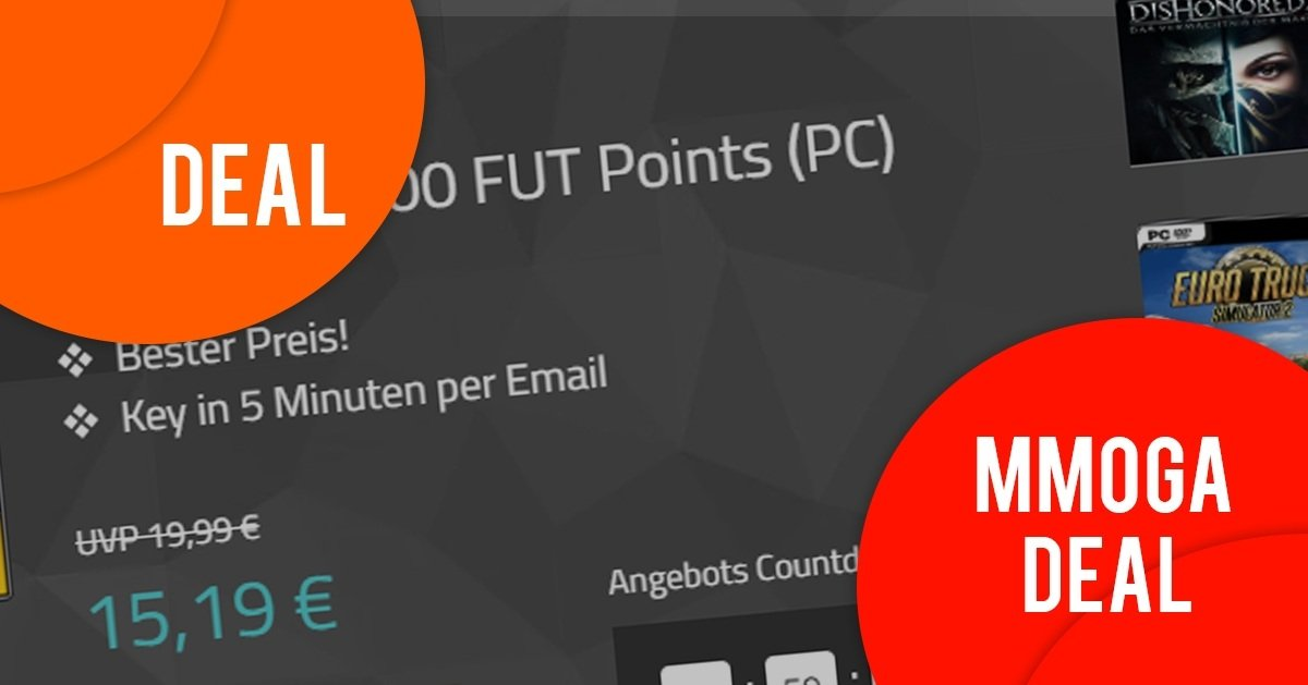 FIFA FUT Points, Dishonored 2 und ETS Vive la France im Angebot