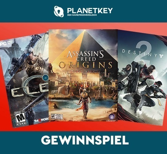 Gewinnspiel Elex, Assassin's Creed Origins, Destiny 2