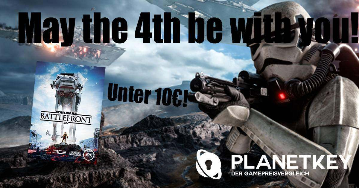 May the 4th be with you! Jetzt SW Battlefront günstig kaufen!