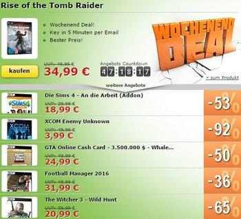 MMOGA Deal mit Rise of the Tomb Raider und mehr!