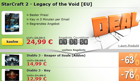 MMOGA Deal - StarCraft 2 - Legacy of the Void zum billigen Preis