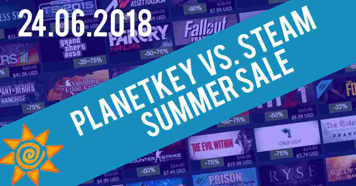 Planetkey vs. Steam Sommer Sale 24.06.2018