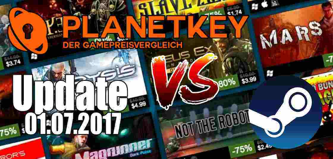 Planetkey vs. Steam Summer Sale 01.07.2017
