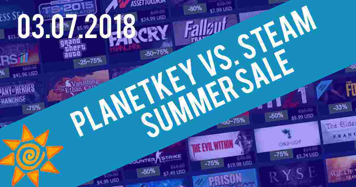 Planetkey vs. Steam Summer Sale 03.07.2018