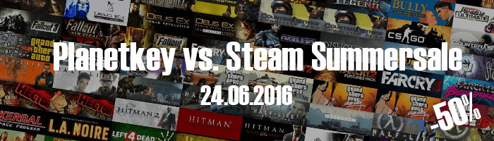 Planetkey vs. Steam Summersale vom 24.06.2016