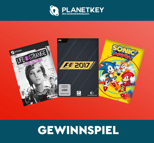 Planetkey Weekly Giveaway mit F1 2017, Sonic Mania und Life is Strange - Beyond the Storm