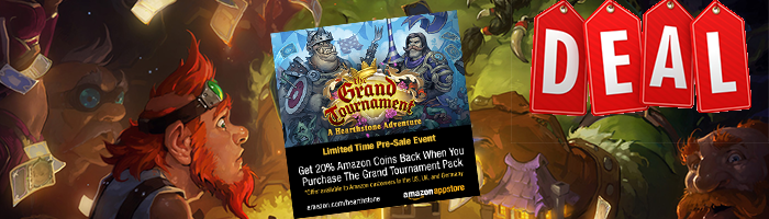 The Grand Tournament - Hearthstone Packs kaufen und 20% sparen!