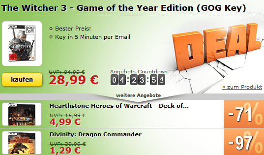The Witcher 3 GOT Edition im Superdeal!