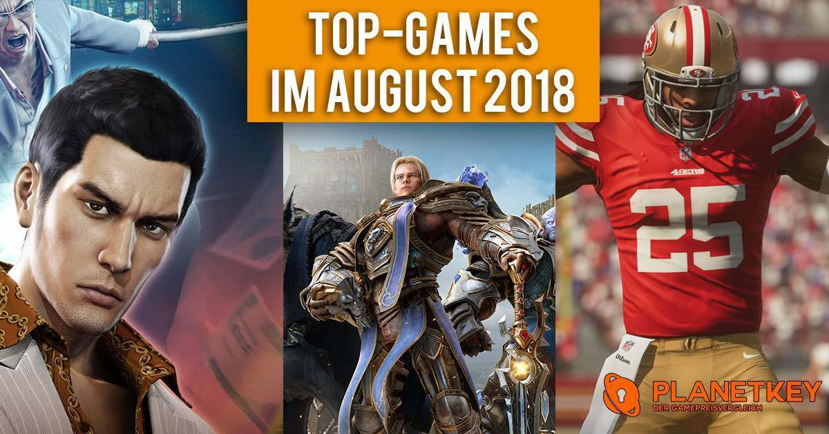 Top-Games im August 2018