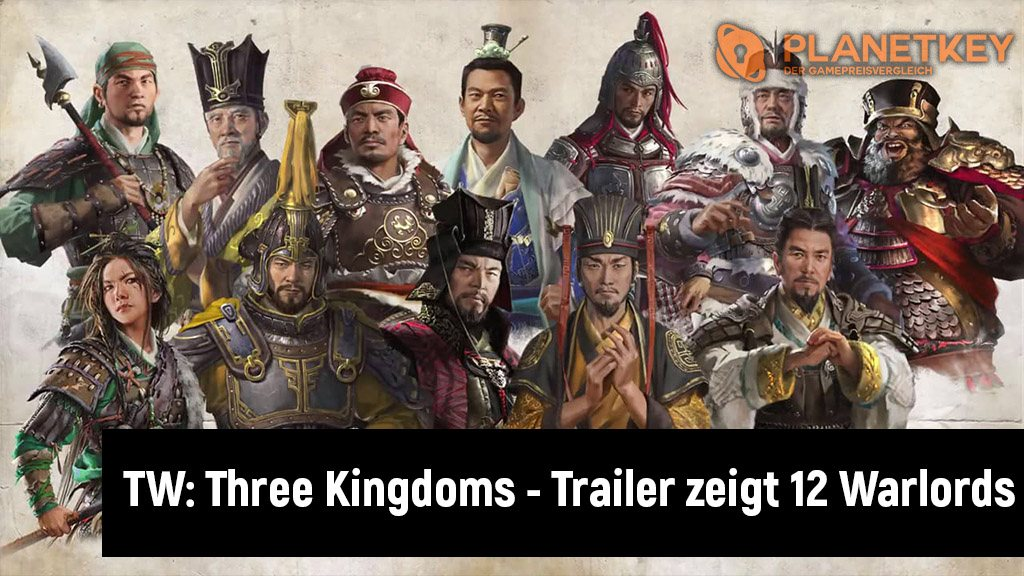 Total War: Three Kingdoms - Trailer zeigt die 12 Warlords