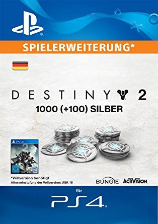 DESTINY 2 [PS4] - 1000 + 100 SILVER