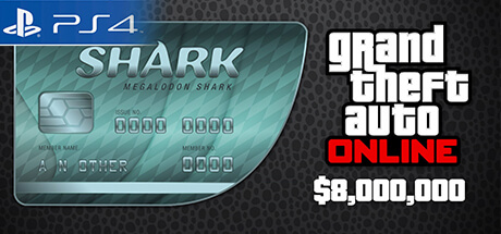 GTA Online Cash Card - 8.000.000 $ - Megalodon [PS4]
