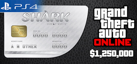 GTA Online Cash Card - 1.250.000 $ - Great White Shark [PS4]