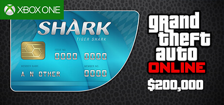 GTA Online Cash Card - 200.000 $ - Tiger Shark [Xbox One]