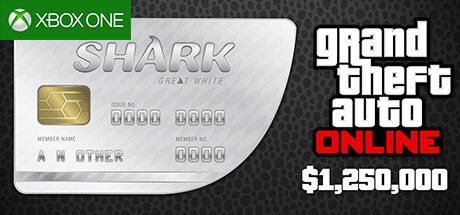 GTA Online Cash Card - 1.250.000 $ - Great White Shark [Xbox One]