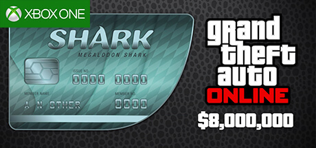 GTA Online Cash Card - 8.000.000 $ - Megalodon [Xbox One]