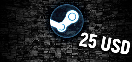 Steam Game Card kaufen - Steam Guthaben kaufen - 25 USD
