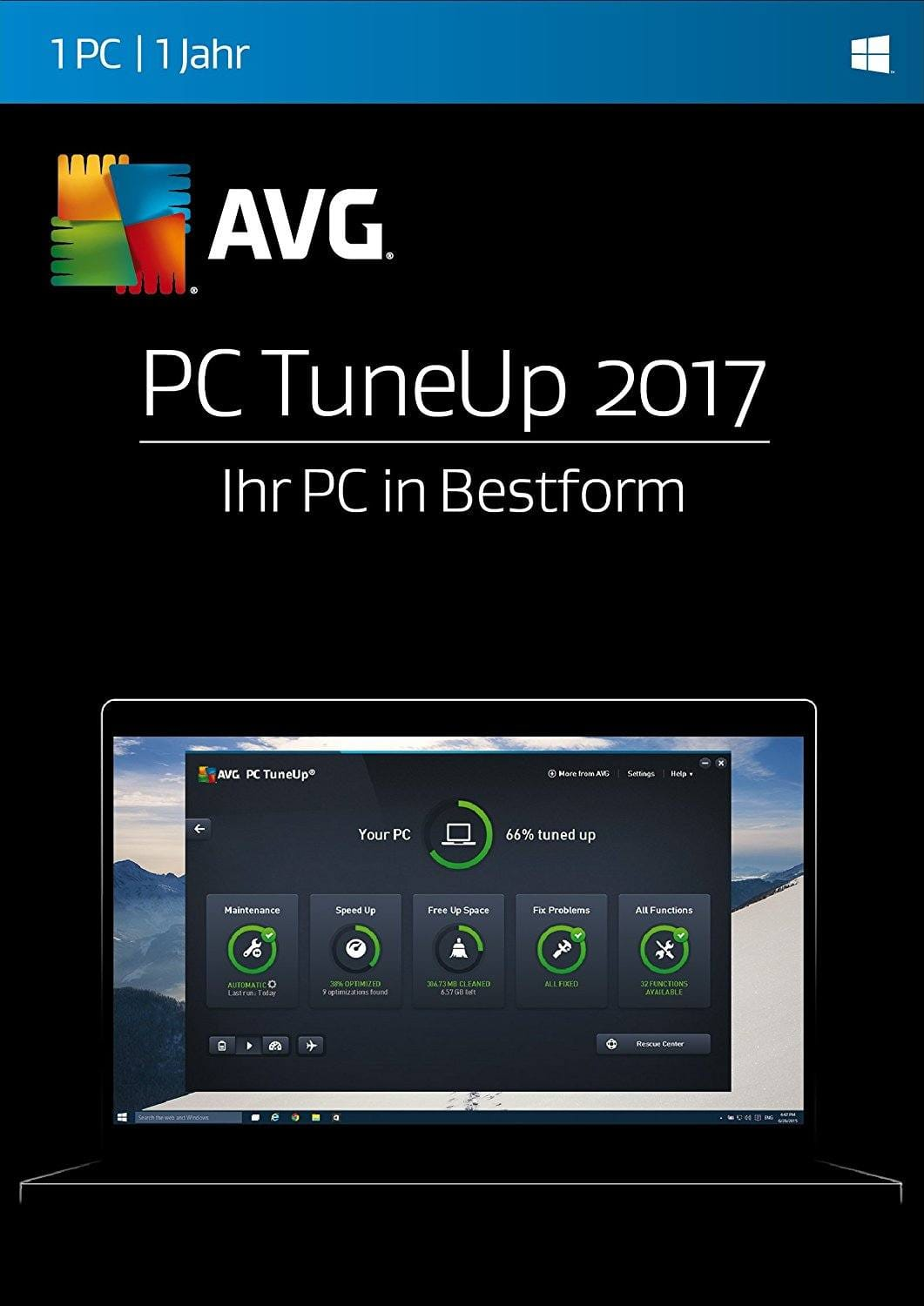 AVG PC TuneUp 2017 Download Code kaufen