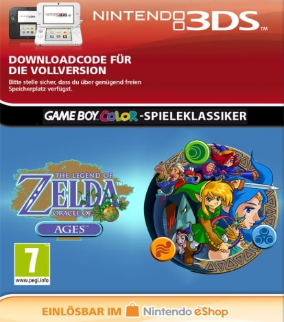The Legend of Zelda Oracle of Ages 3DS Code kaufen